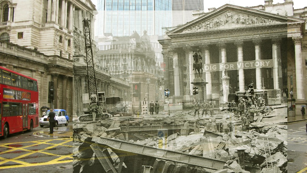 Bomb Damage At Bank Station And Pankhurst Arrested