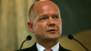 Foreign Secretary William Hague's tweet on the crisis in Egypt has been criticised.