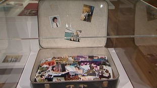 The last time Mitch Winehouse saw his daughter, they looked through this suitcase of photographs.