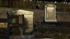 Some of the Mandela family graves.