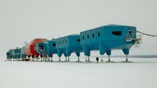 The Halley VI research centre in Antarctica, designed by British architects Hugh Broughton