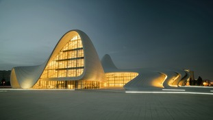 The Heydar Aliyev Centre designed by British-based Zaha Hadid Architects in Baku, Azerbaijan