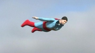 Is it a bird? Is it a plane? No, it's a robot Superman
