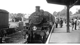 Swanage rail platform in 1966