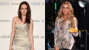 Kirsten Steward has been voted the best dressed woman by Glamour magazine. Katie Price who has been voted the world''s worst dressed.