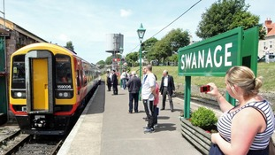 Swanage railway platform in 2013