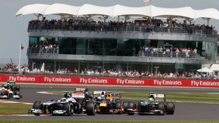 Valtteri Bottas, Mark Webber and Esteban Gutierrez. British Grand Prix, Sunday 30th June 2013