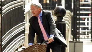 Andrew Mitchell riding his bike