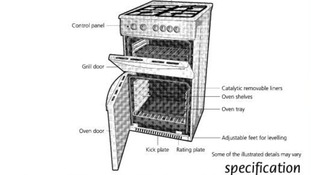 Instruction image of Beko cooker Model number DCG8511WLPG