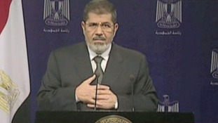 Mohamed Morsi spoke in a televised address last night before he was removed from power.