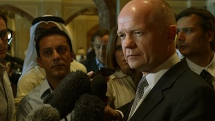 William Hague in Doha, Qatar on June 22.