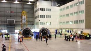 Heathrow airport hangar