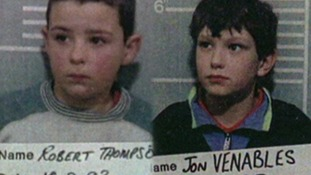Robert Thompson and Jon Venables in police custody in 1993