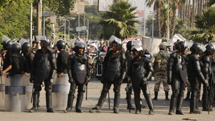 Egypt does not want the overthrow of President Morsi to be classed as a military coup in case it has aid repercussions.