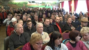 Hundreds of fans attended the meeting yesterday