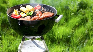 Barbecue with food