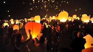 New warning about use of floating lanterns