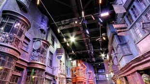 Part of the lighting rig at Leavesden Studios