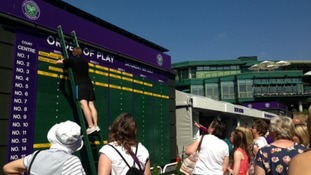 The order of play goes up on Ladies' Final Day at Wimbledon.