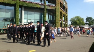 The gates open at Wimbledon for ladies' final and ticket holders are allowed in to the All England Club.