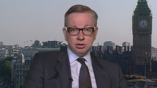 Education Secretary Michael Gove speaking on Daybreak.