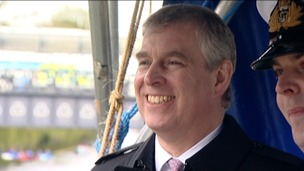 Prince Andrew on a visit to Norwich