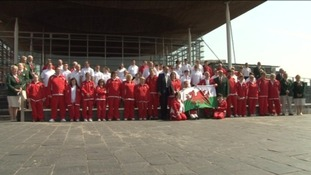 Special Olympics Wales team given send-off at the Senedd