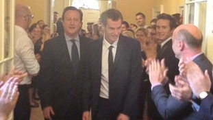 Downing Street staff applauded Andy Murray as he arrived at Number 10