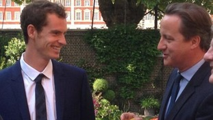 Andy Murray in the garden of Number 10 at a special reception
