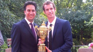 Ed Miliband and Andy Murray in the Downing Street garden
