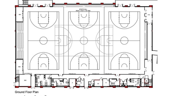 basketball gym floor plans submited images