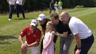 Celebs flock to Northumberland for charity golf day