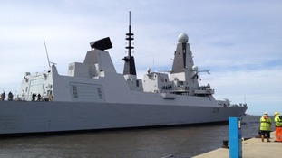 HMS Dragon docks