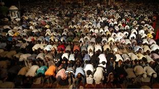 Supporters of deposed Egyptian President Mohamed Morsi perform dawn prayers in Cairo.