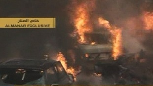The car bomb detonated in a Hezbollah stronghold in southern Beirut.