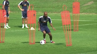 Nicolas Anelka training with his new team-mates