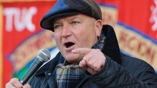 RMT transport union leader Bob Crow.