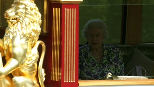 The Queen on the River Thames near Windsor