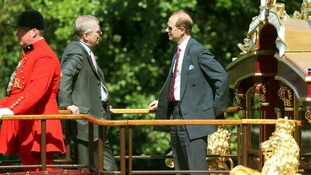 Duke of York and The Earl of Wessex on Gloriana