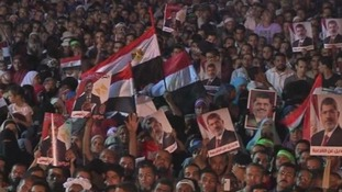 Supporters of the ousted leader Mohamed Morse protest in Cairo