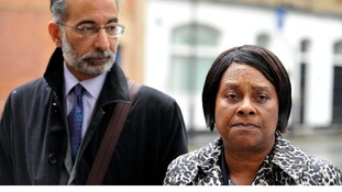 Doreen Lawrence with her lawyer Imran Khan on June 28.