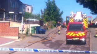 Fire crews at scene of fire