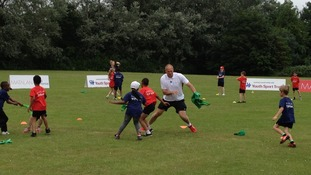 Sir Steve Redgrave at Southwood School in Milton Keynes