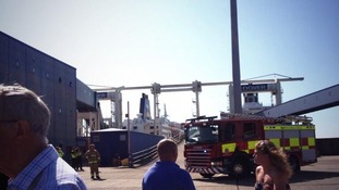 Fire engine at Docks