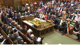The House of Commons chamber was particularly rowdy during today's  PMQs.