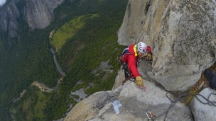 Steve Bate became the first registered blind person to scale one of the world's most dangerous rock faces.