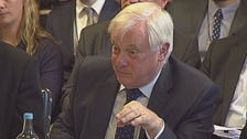 BBC Trust chairman Lord Patten giving evidence to the Commons Public Accounts Committee