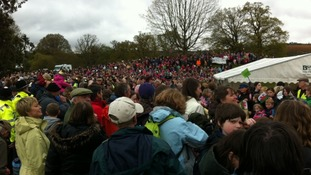 Crowds for the Queen at Glanusk Park