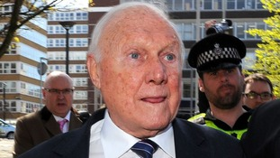 Veteran broadcaster Stuart Hall after the broadcaster was jailed for 15 months on 14 counts of indecent assault.