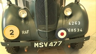 RAF vehicle on display at Coventry Transport Museum.